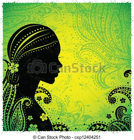 Indian clipart boutique On a Clipart Vector of