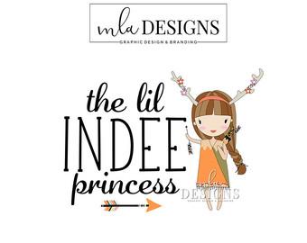Indian clipart boutique Etsy Logos Indian Girl Logo