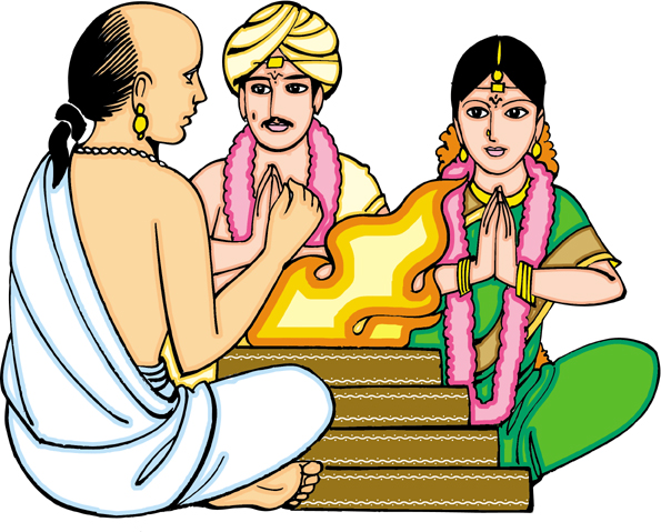 Indian clipart brahmin Ceremony Marriage Brahmins Indian Tholkappiyar