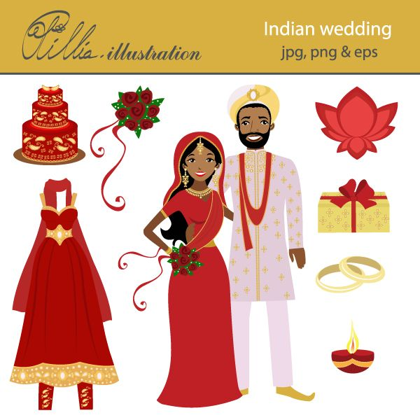 Wedding Cake clipart bridal couple Indian best Indian on 18