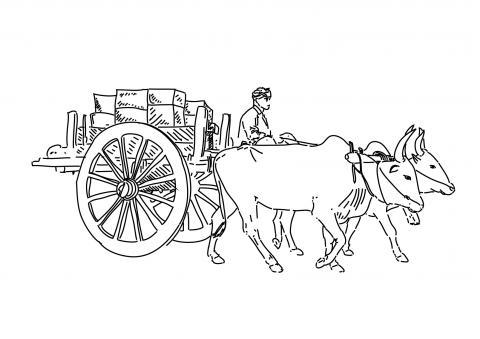 Cart clipart cow Cart of cart India bullock