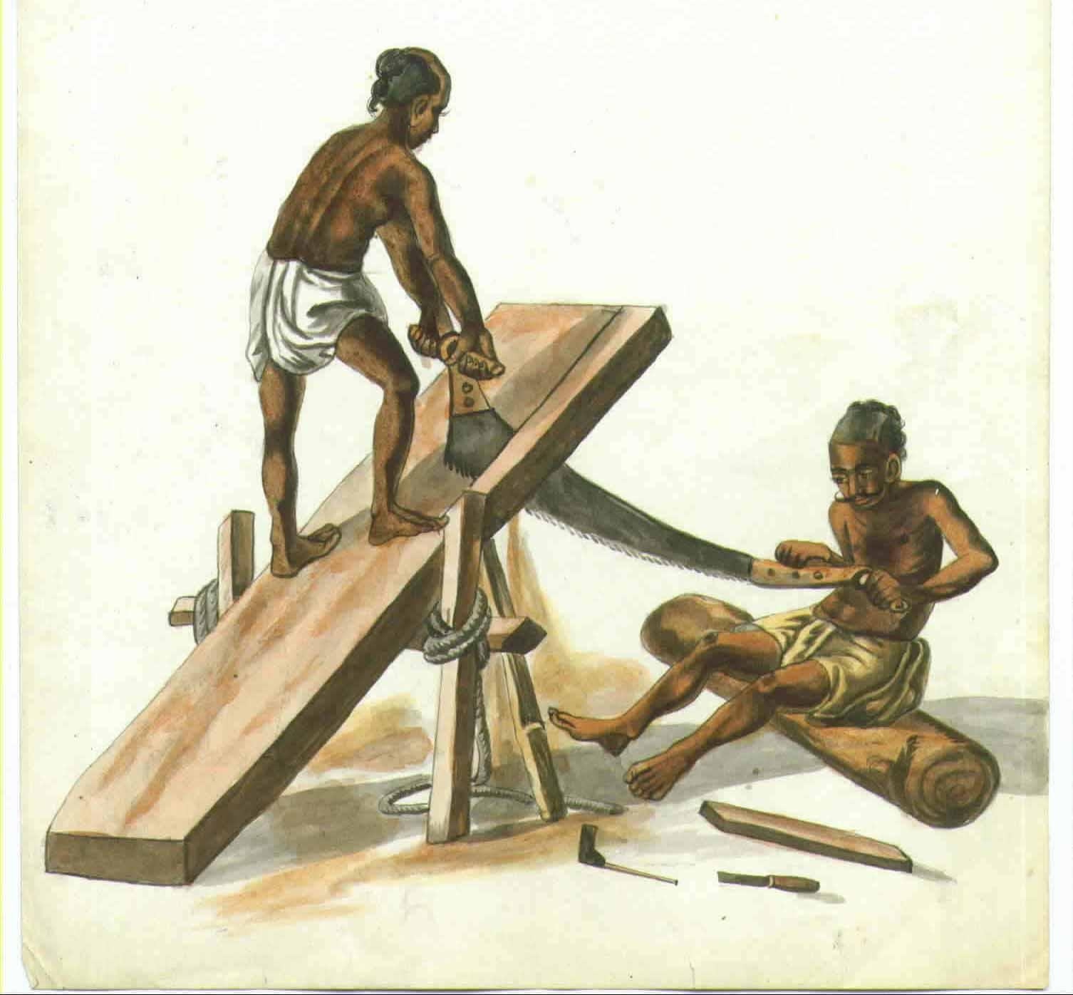 Indian clipart carpenter A with merchant *A grain