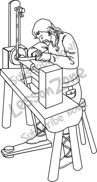 Indian clipart carpenter Lesson B&W carpenter Anglo Saxon