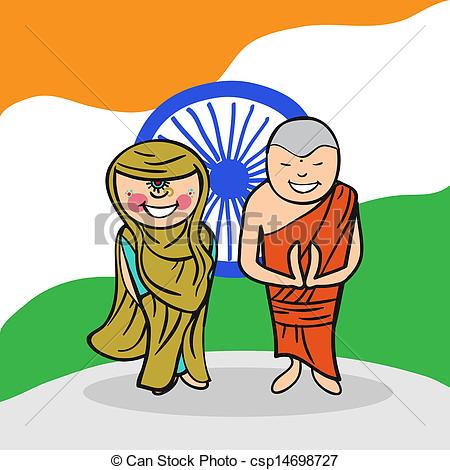Indian clipart cartoon Illustration man people people to