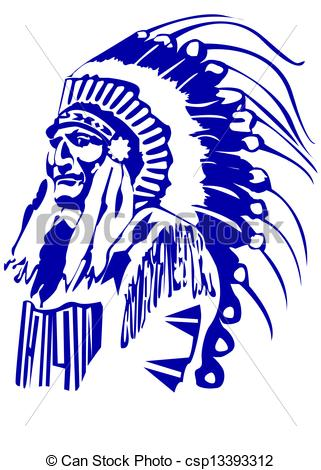 Chief clipart warrior head 126 and Chief  Indian