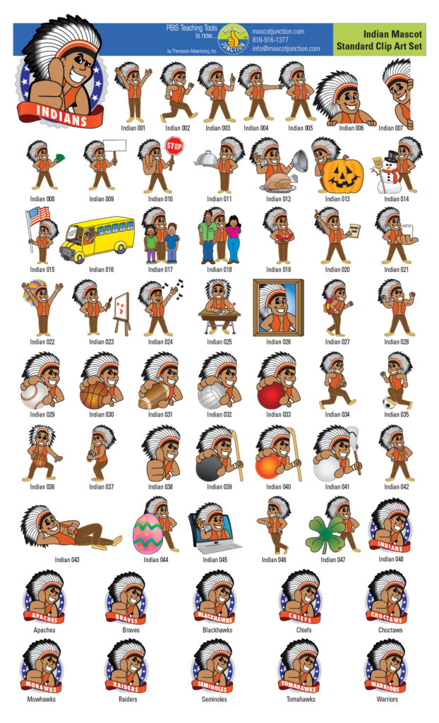 Indian clipart choctaw Clip Mascot Mascot Junction Indian