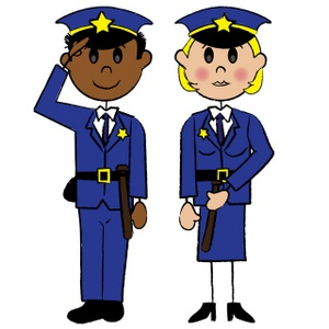 Moving clipart police Clipart police  Female police