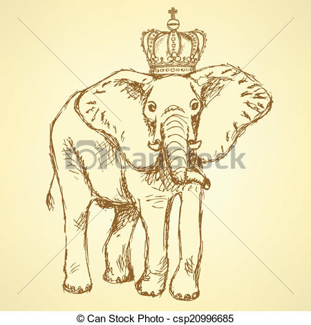 Indian clipart crown Vector elephant crown vector elephant
