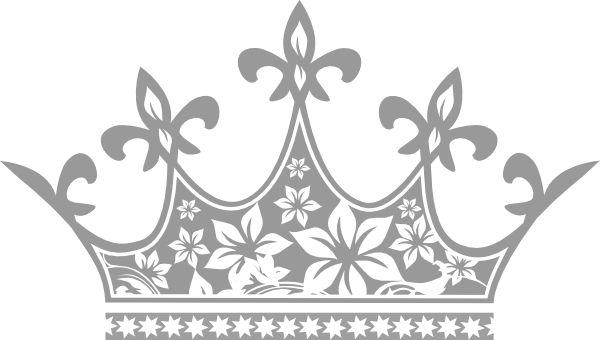 White clipart princess crown Clker vector com free vector