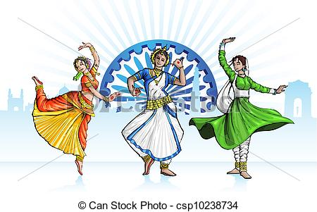 Indian clipart cultural dance  Indian of Indian Classical