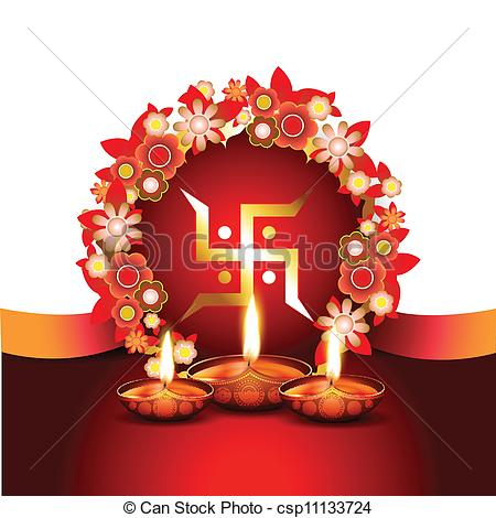 Indian clipart diwali Festival vector of background indian