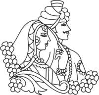 Bride clipart wedding symbol Indian Clipart cliparts Collection marriage