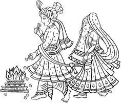 Indian clipart dulha dulhan Symbols indian_marriage1 gif Wedding Indian