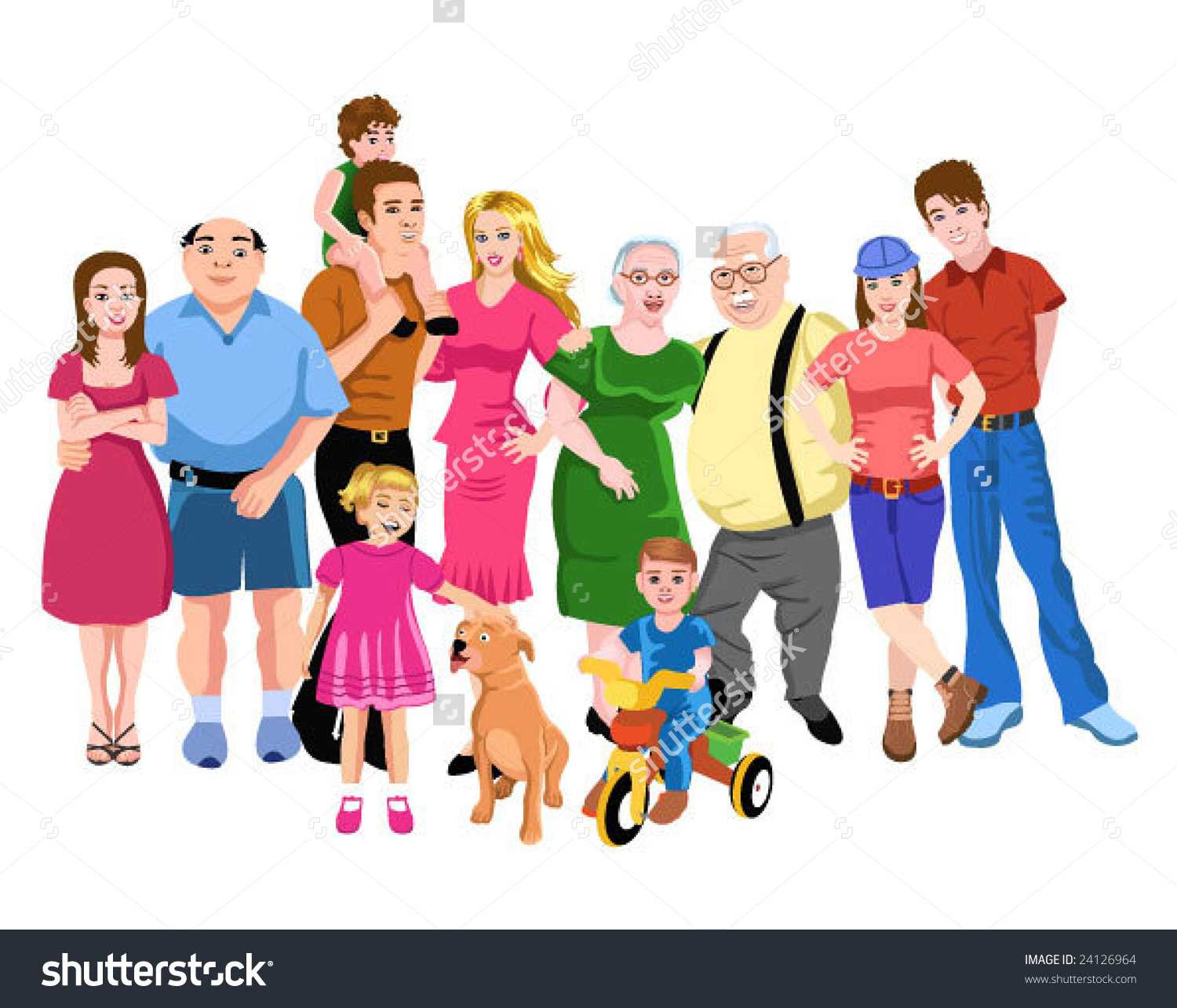 Indian clipart family member Clipart family Big  vectorby