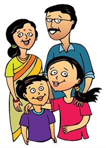 Indian clipart family member – Family Small Small Family