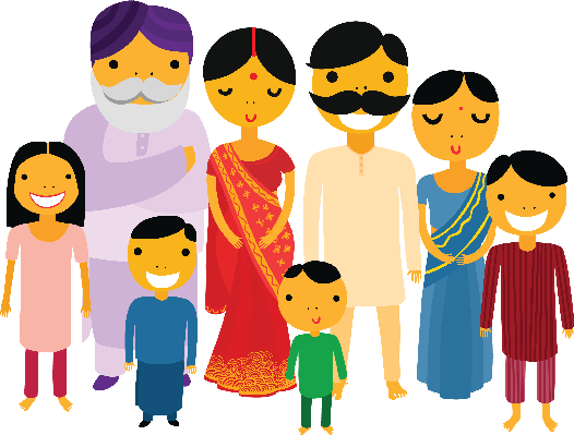 Indian clipart family member Arts Family Big Family Clipart
