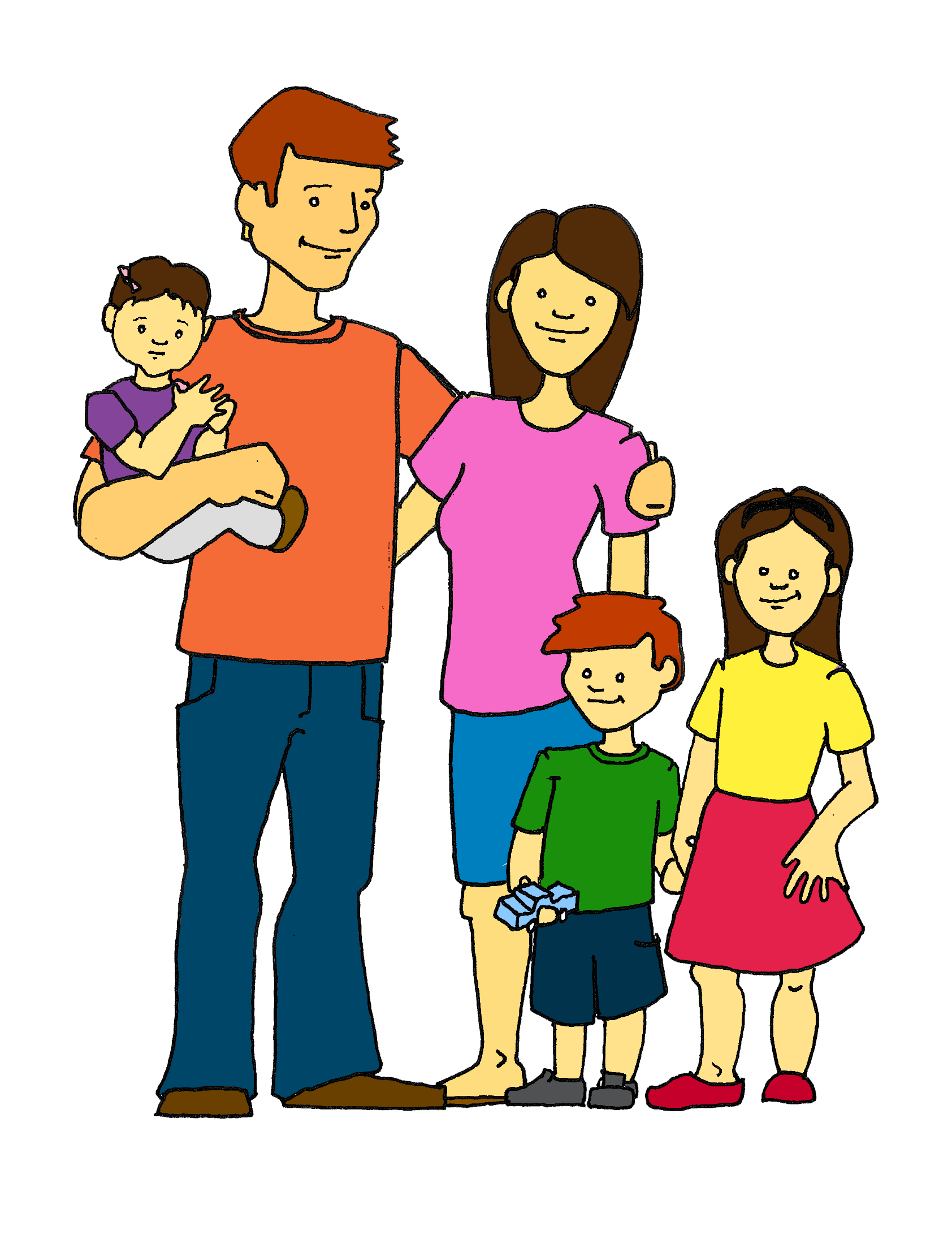 Vacation clipart happy family Families Art Download Art Free