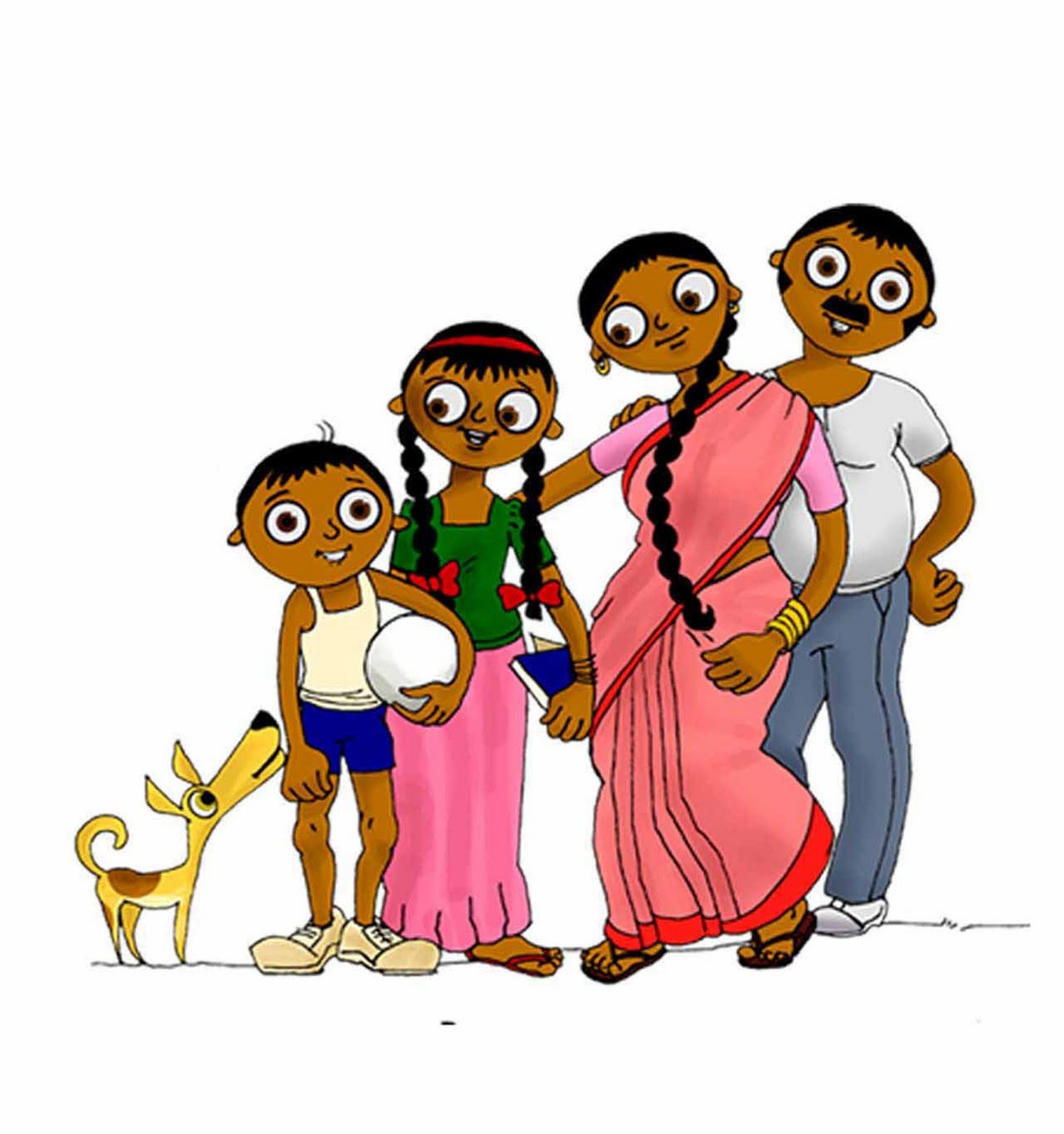 Indian clipart family photo Family Art Download – Clipart