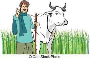 Indian clipart farmar  Vectors in farmer indian