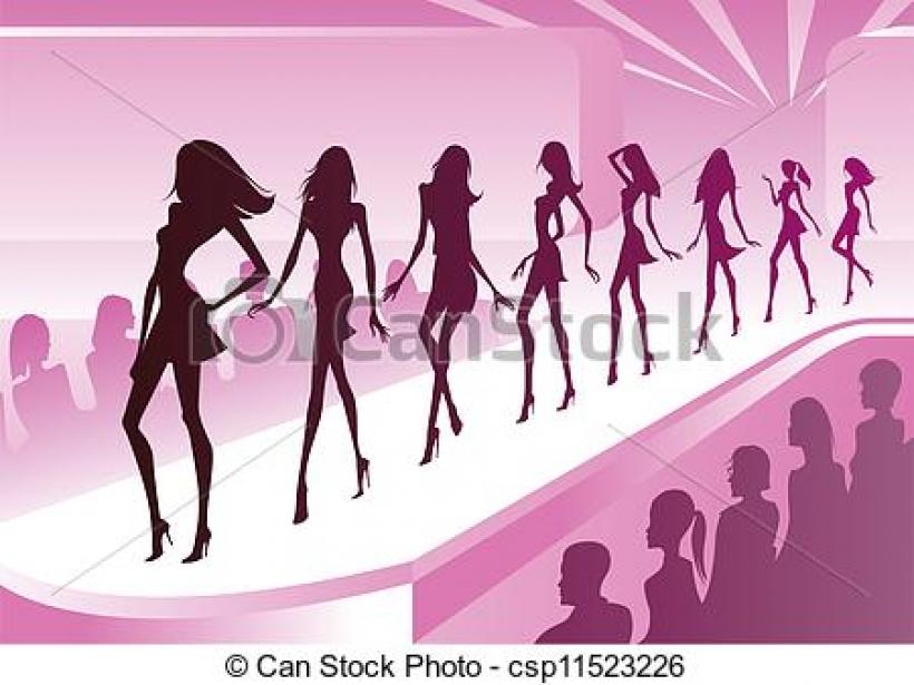 Indian clipart fashion show Show clipart  catwalk inside