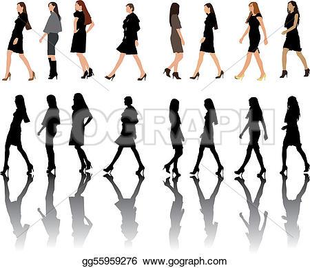 Indian clipart fashion show Vector Vector Stock illustration Illustration
