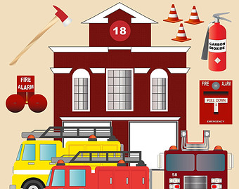 Police clipart fire station #7