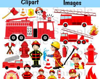 Fire Truck clipart commercial 50% Fire INSTANT Fireman Fireman