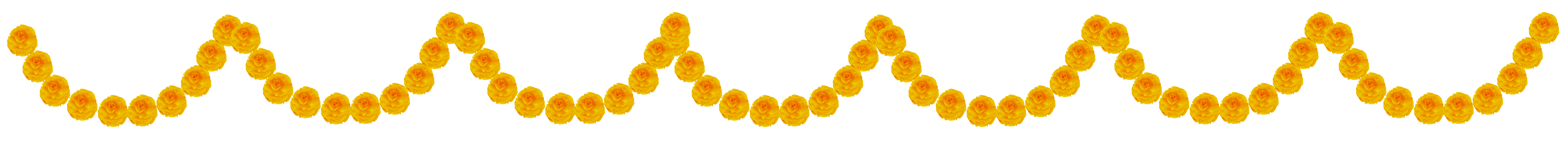 Yellow Flower clipart garland Transparent Clip View  full