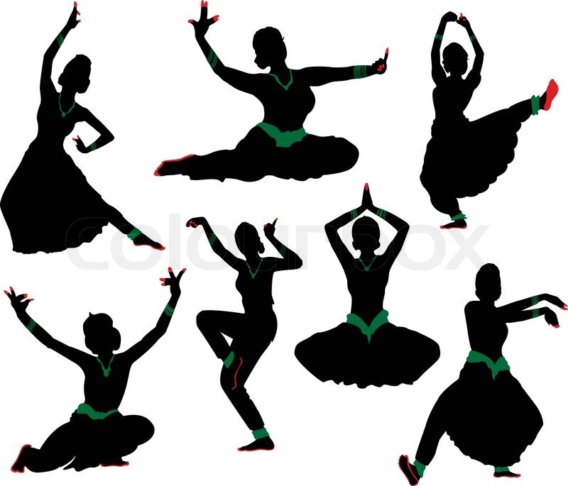 Indian clipart group dance Stock ' Stock of vector