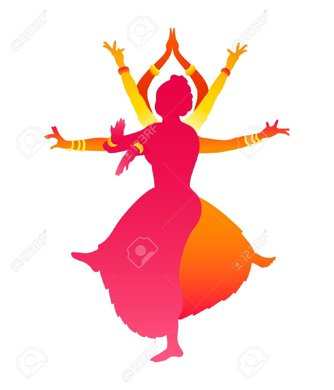 Indian clipart group dance Colorful vector of Traditional 'Silhouettes