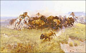 Indian clipart hunting buffalo Art Buffalo Hunting Clip 1919