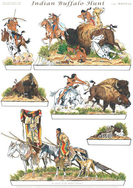 Indian clipart hunting buffalo Indian about Best and images