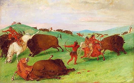 Indian clipart hunting buffalo Chase Org Buffalo Bison NebraskaStudies