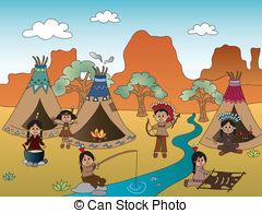 Indian clipart hunting buffalo American hunting casaltamoiola2/166; village Indian