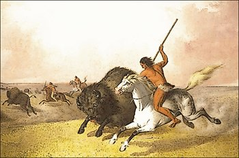 Indian clipart hunting buffalo Americans and Graphics the Images