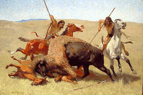 Indian clipart hunting buffalo Buffalo Download Art Danger Buffalo