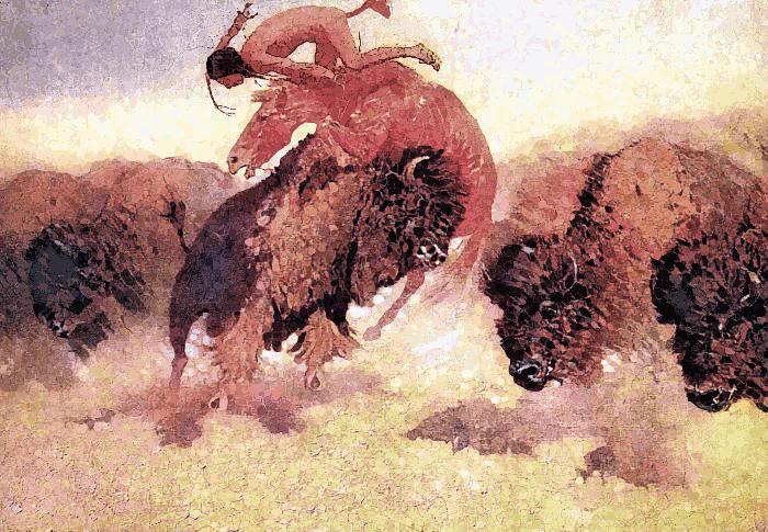 Indian clipart hunting buffalo Buffalo The Remington 1908 Hunt