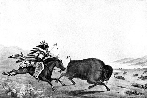 Indian clipart hunting buffalo Hunt Indians Buffalo Plains Plains