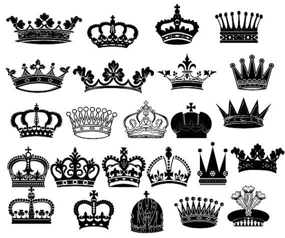 Queen clipart crown // Queen Clip  Art