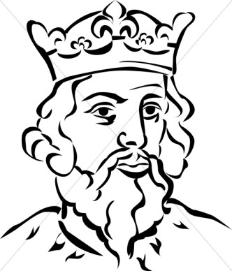 Queen clipart black and white #10