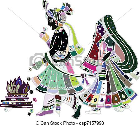 Indian clipart marriage ceremony Csp7157993  Traditional wedding Indian