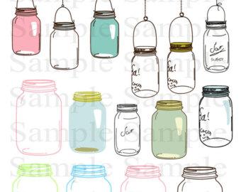 Mason Jar clipart glass jar Mason jar Jelly Mason Jars