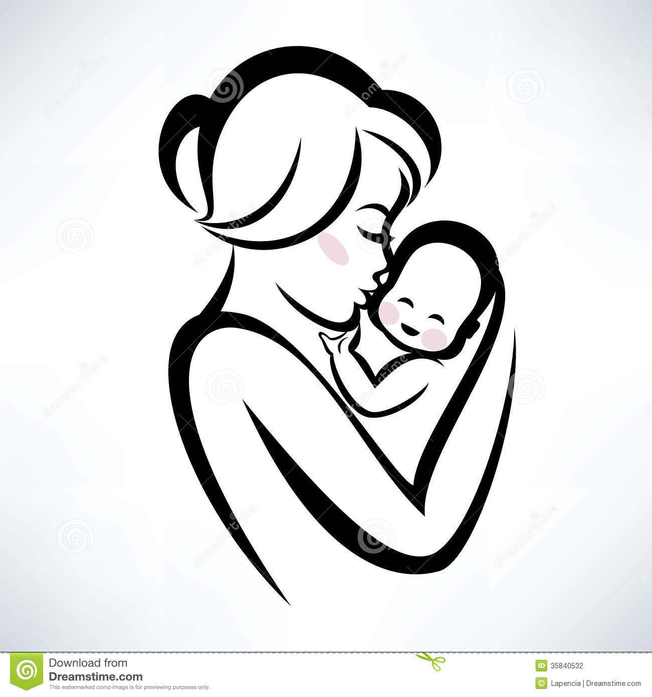 Indian clipart mother & baby Baby  Mother baby and