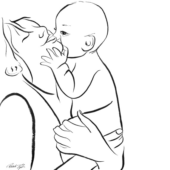 Indian clipart mother & baby The Clip and Download Free