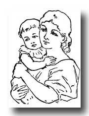 Indian clipart mother and child Cliparts child Mother With Child