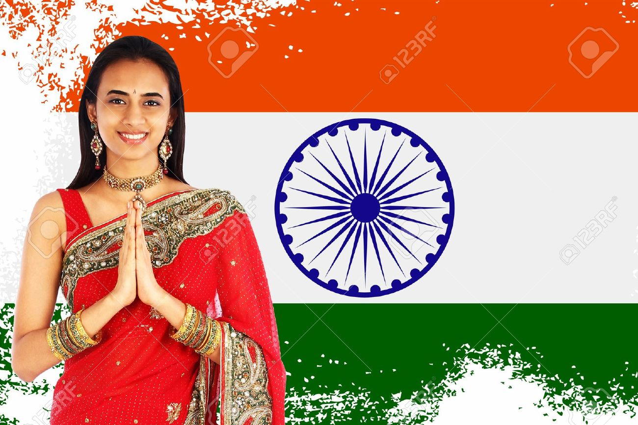 Indian clipart namaste Indian woman Indian & Art