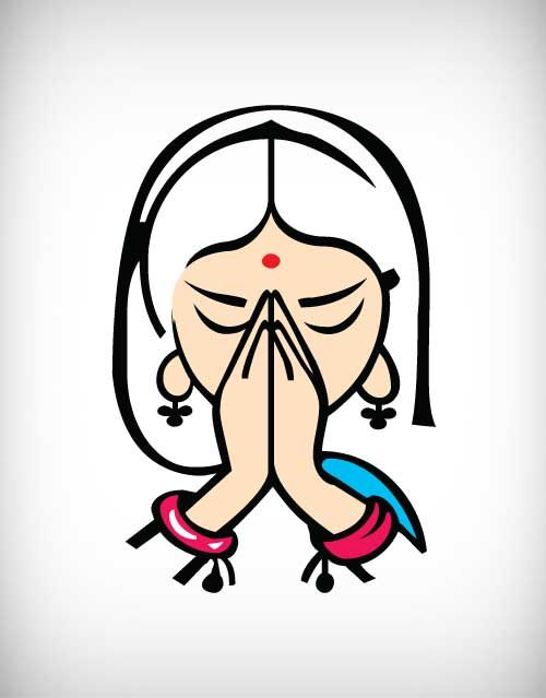 Indian clipart namaste Concepts Cliparts Zone clipart image