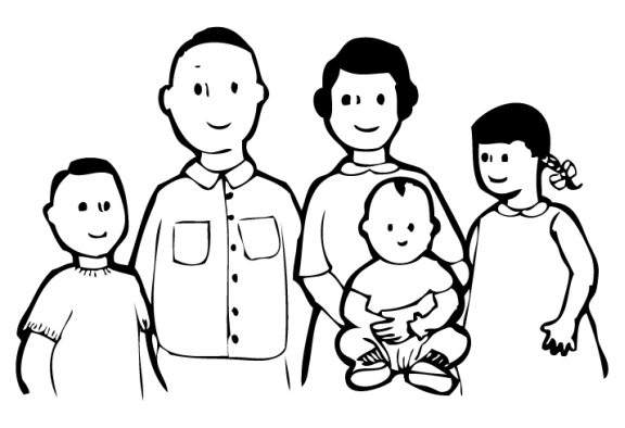 Gallery clipart lds family Black Family white white Nuclear