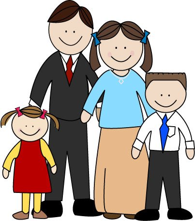 Asians clipart family 4 Family Nuclear and collection clip