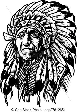Indian clipart old  indian of indian man